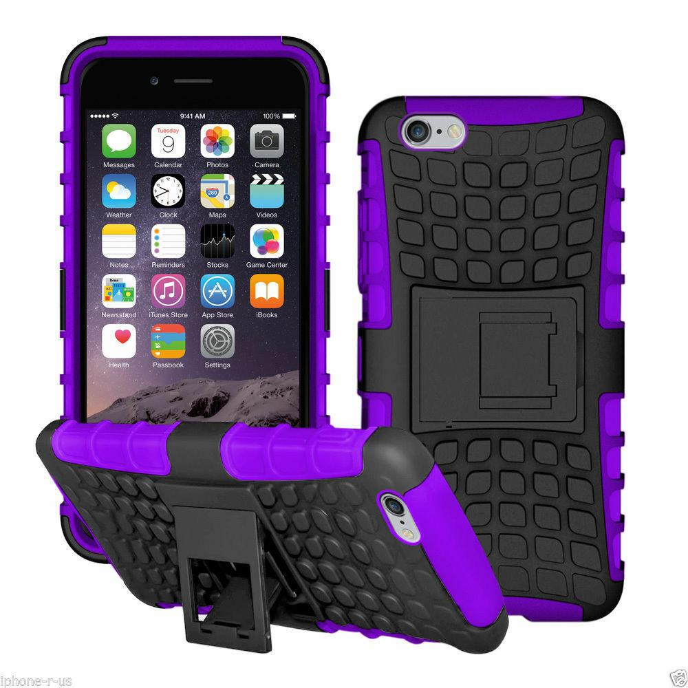 Heavy Duty Shockproof Bumper Hybrid Armor Stand Case For iPhone