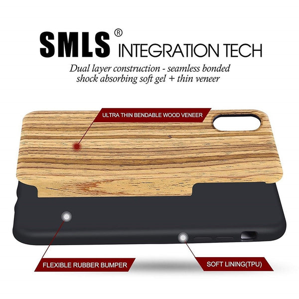 dual layer protection Wooden Case for iPhone