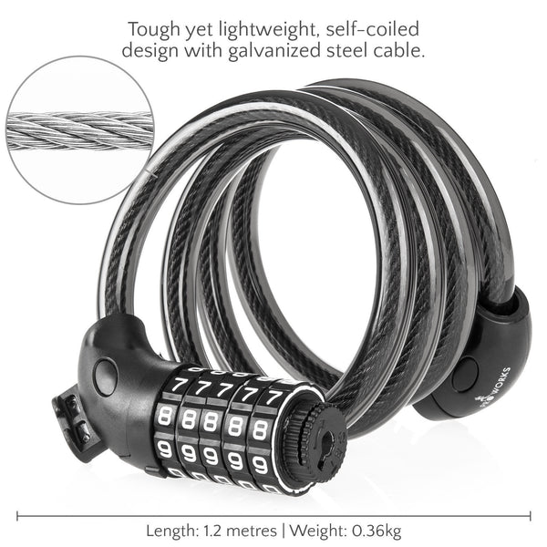 galvanized steel cable Combination Bicycle Lock