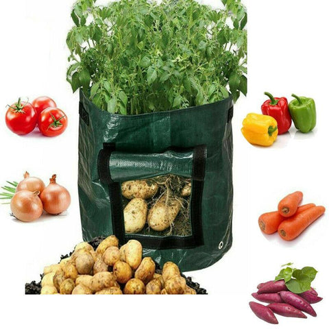 Image of Potato Bags Tomato Veg Durable Re-Usable Balcony Patio Planters Grow Bag10Gallon