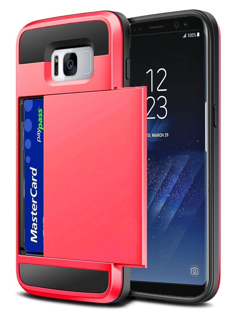 Samsung Case with Card Holder - Protective Credit Card Wallet Slot