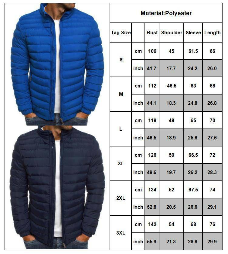 Men's Puffer Jacket Casual Quilted Winter Warm Coat