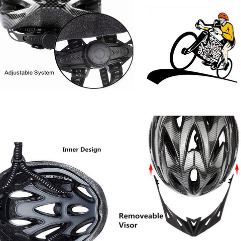 Image of BMX Bike / Cycling Helmet - Adjustable Strap