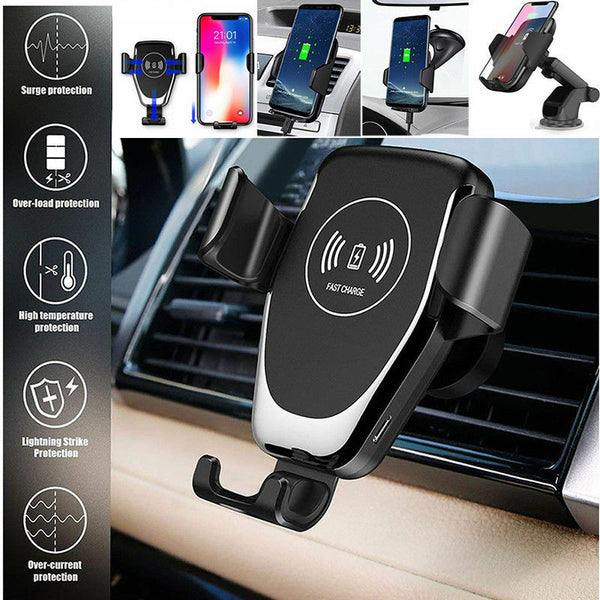Wireless Qi Mount Car Charger