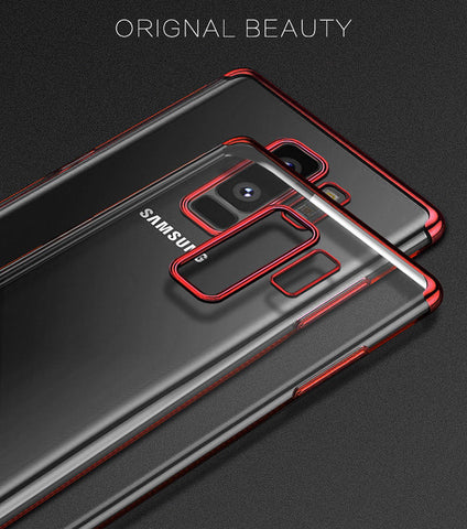 Image of Ultra Slim Shockproof Silicone Clear Case Cover for Samsung Galaxy S8 S9