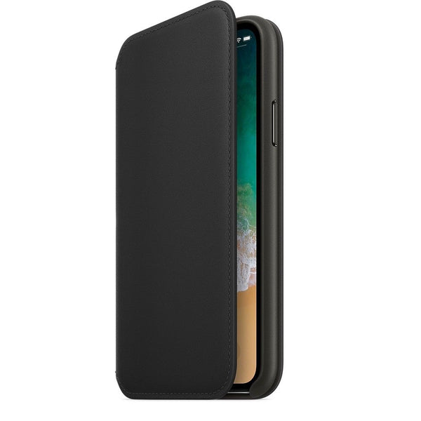 Leather Folio Flip Wallet Case Cover For iPhone