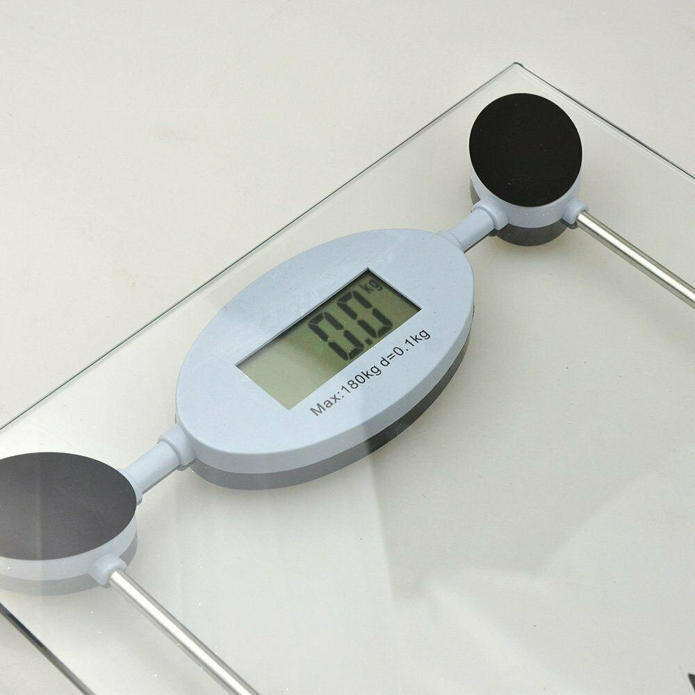 Digital LCD Electric Bathroom Personal Glass Weighing Scale - Max Weight 180KG