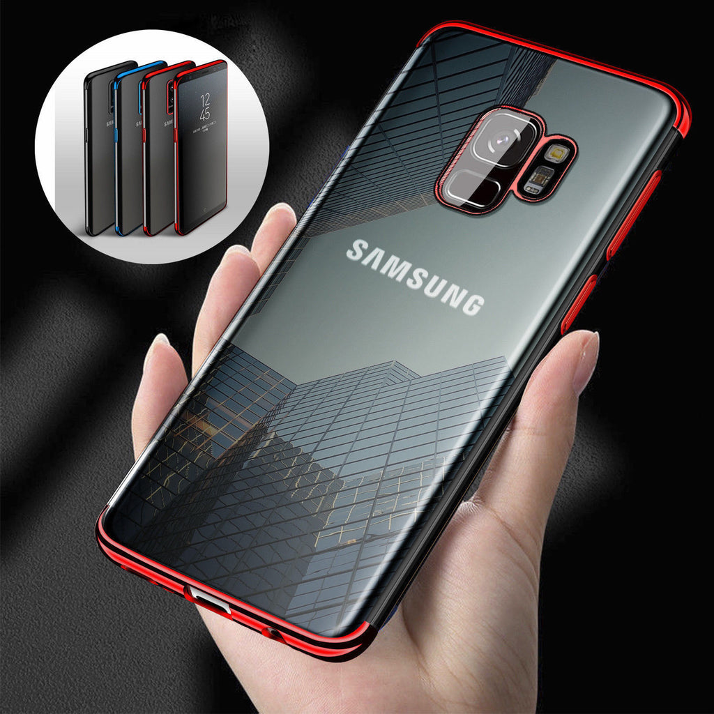 Ultra Slim Shockproof Silicone Clear Case Cover for Samsung Galaxy S8 S9