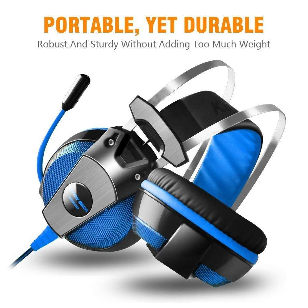 Gaming Headset for PlayStation PS4 Tablet PC 3.5mm Headphone Mic LED Laptop