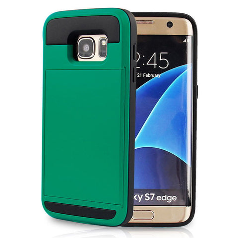 Image of Samsung Case with Card Holder - Protective Credit Card Wallet Slot