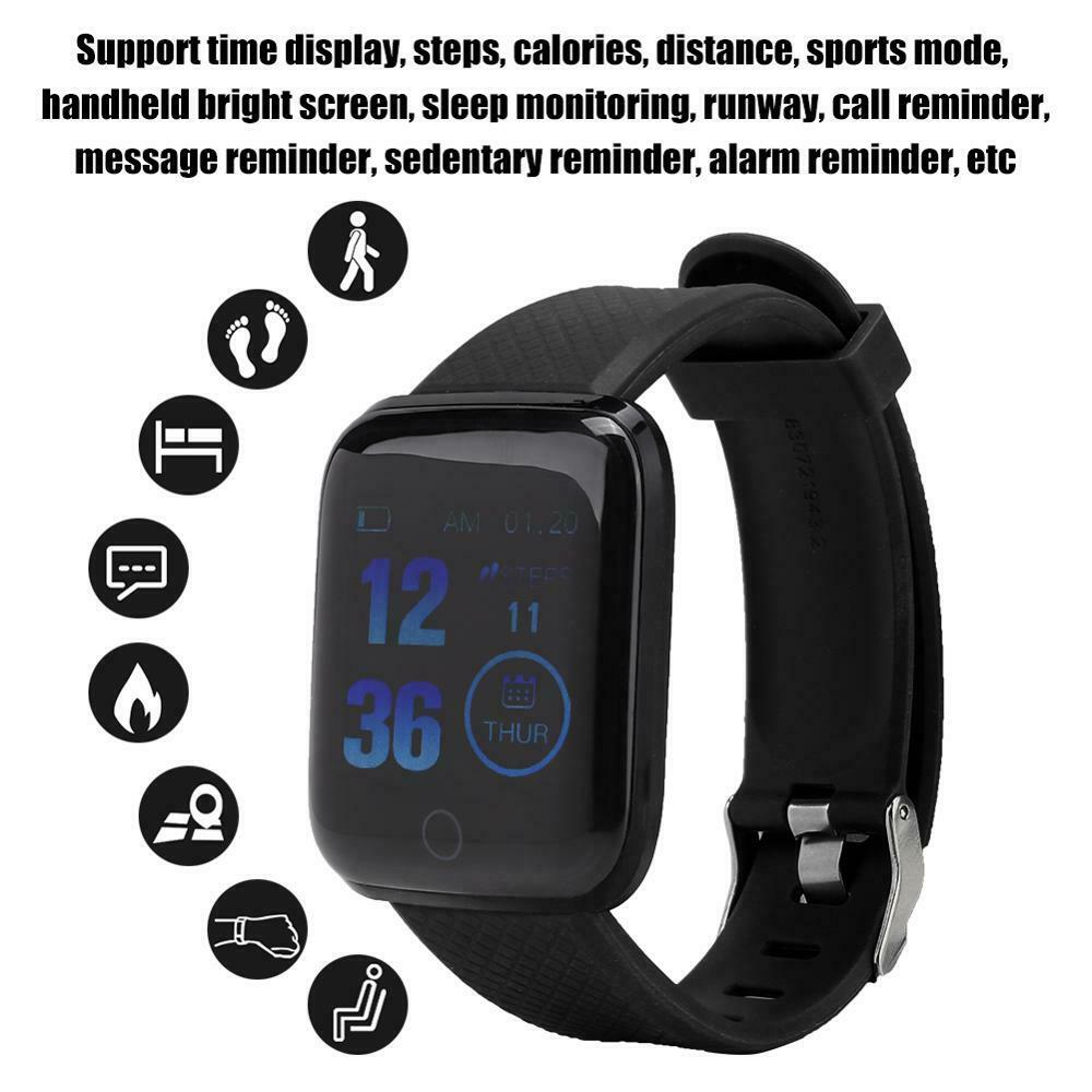 Waterproof Smart Watch Fitness Tracker Heart Rate Blood Pressure Monitor