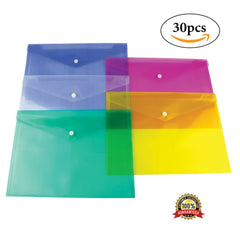 A4 Plastic Stud Document Wallet Filing Folders for Offices / Schools