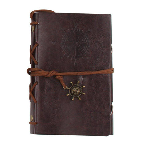 Image of Vintage Notebook Journal Handmade Leather Travel Diary Notepad Gift