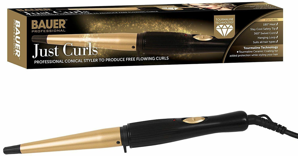 Conical Ceramic Hair Curling Wand - Curlers Tong Styler