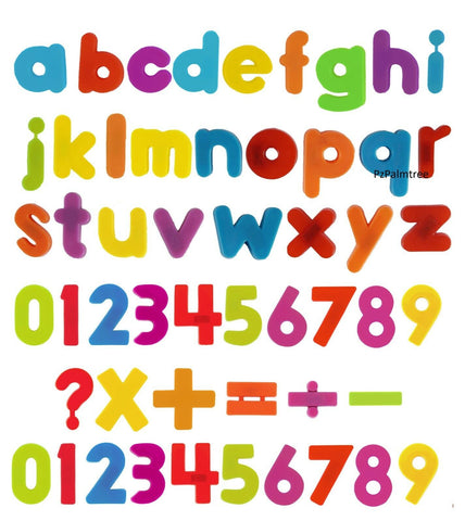 Image of Magnetic Learning Toy Alphabet Letters & Numbers - Stick on Fridgefor Kids