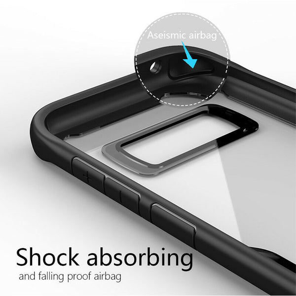 rugged bumper clear case for samsung