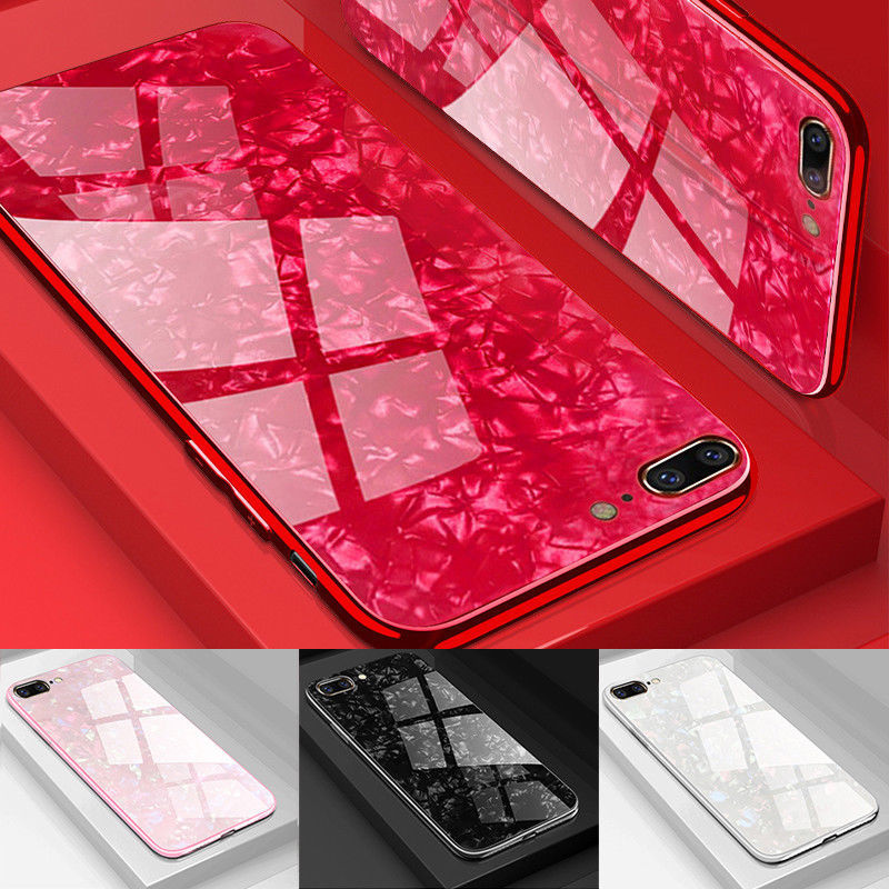 Marble Tempered Glass Shockproof 360 Case for iPhone XR X 7 6 8