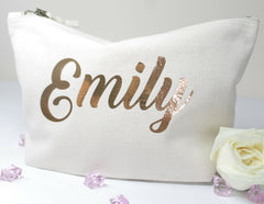 PERSONALISED MAKE UP BAG  -  GLITTER BIRTHDAY MOTHERS DAY GIFT