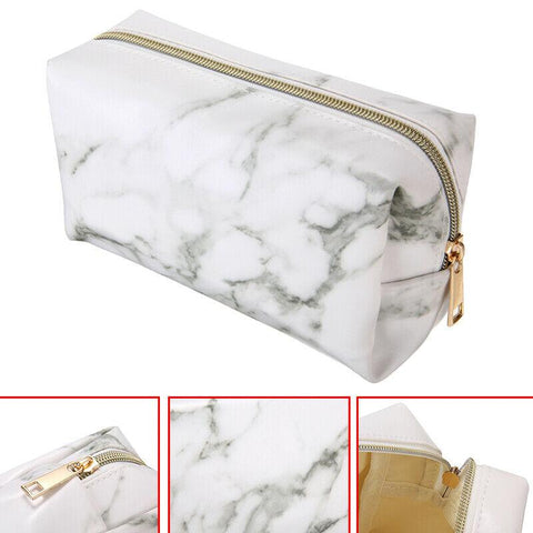 Image of Marble Zipper Pencil Case Pouch for Makeup Storage