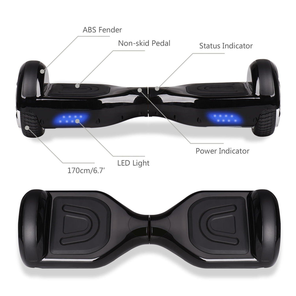 "Electric Segway Hoverboard 6.5"" Self Balancing Scooter with Bluetooth Connectivity"
