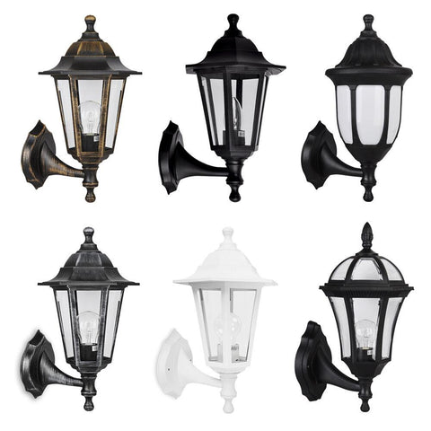 Image of Traditional Outdoor Garden Wall Light Lantern Coach Lighting Vintage IP44 Lamp