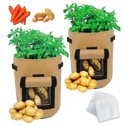 Image of 1-10* Potato Grow Bags Plant Tomato Sack Spuds Root Pot Bags Vegetable 26 Liters