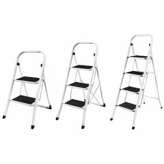 Non Slip Safety Ladder - Mat Tread Foldable For Kitchen / Home - 2-4 Steps