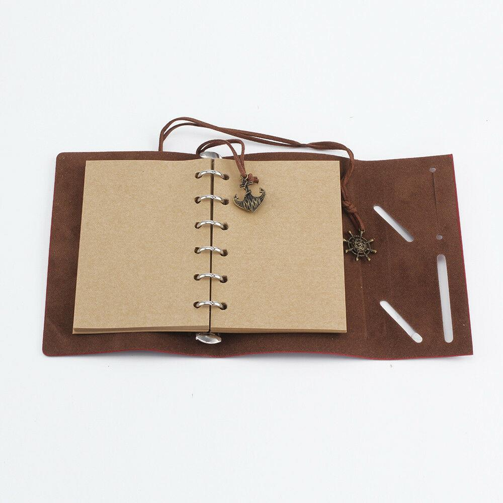Vintage Notebook Journal Handmade Leather Travel Diary Notepad Gift