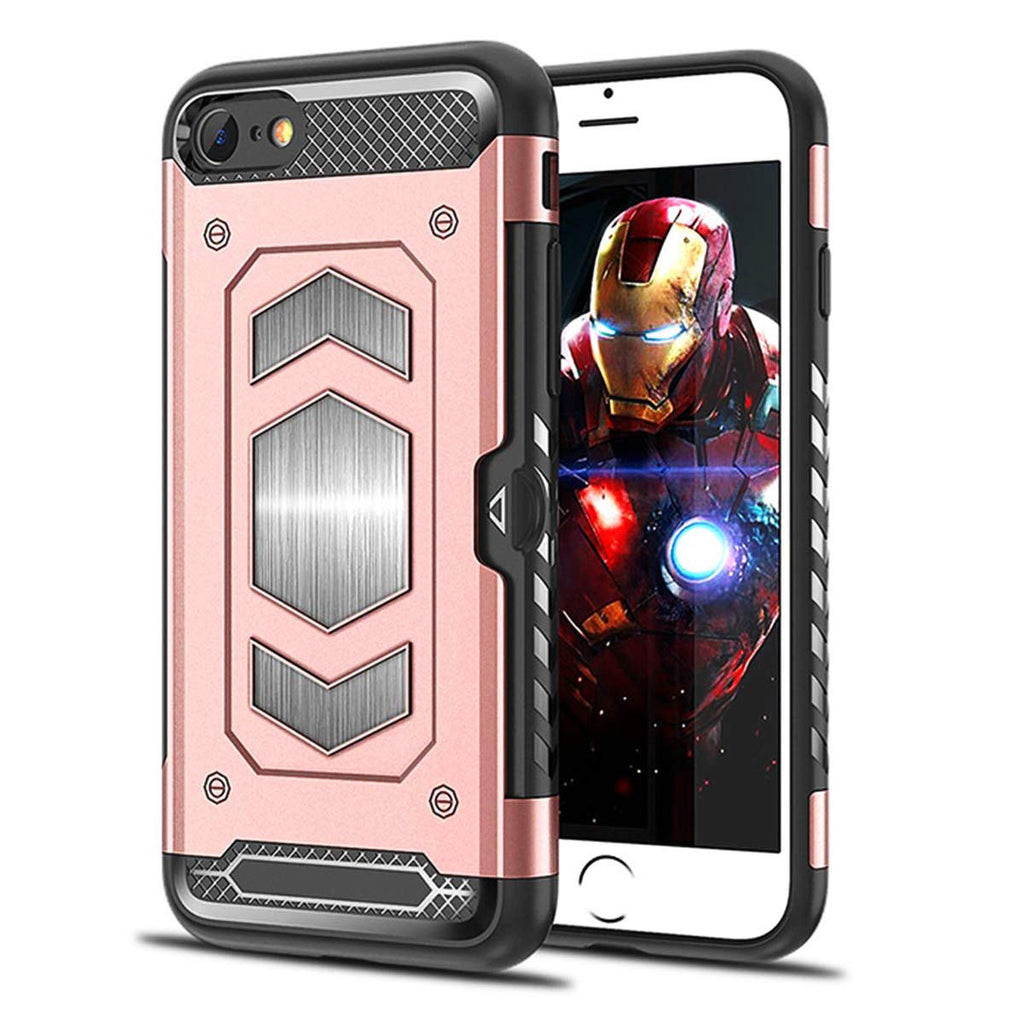 Slim Shockproof Tough Armour iPhone Case with Magnetic Mount & Card Holder