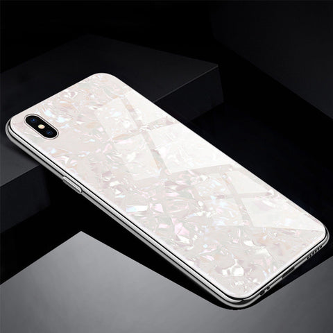 Image of Marble Tempered Glass Shockproof 360 Case for iPhone XR X 7 6 8