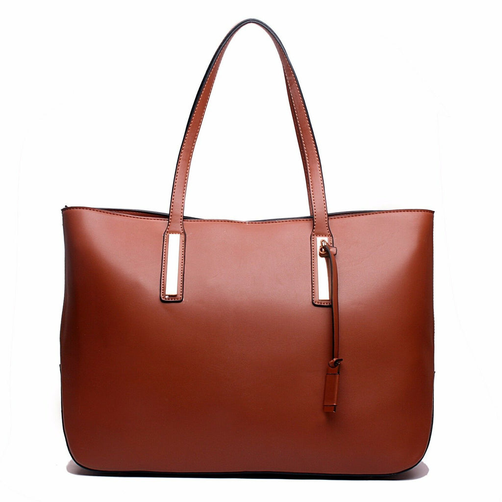 Ladies Designer Tote Shoulder Leather Handbag