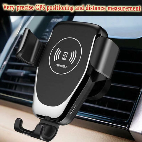 Image of Wireless QI Charger Mount Car Holder with Auto Clamp
