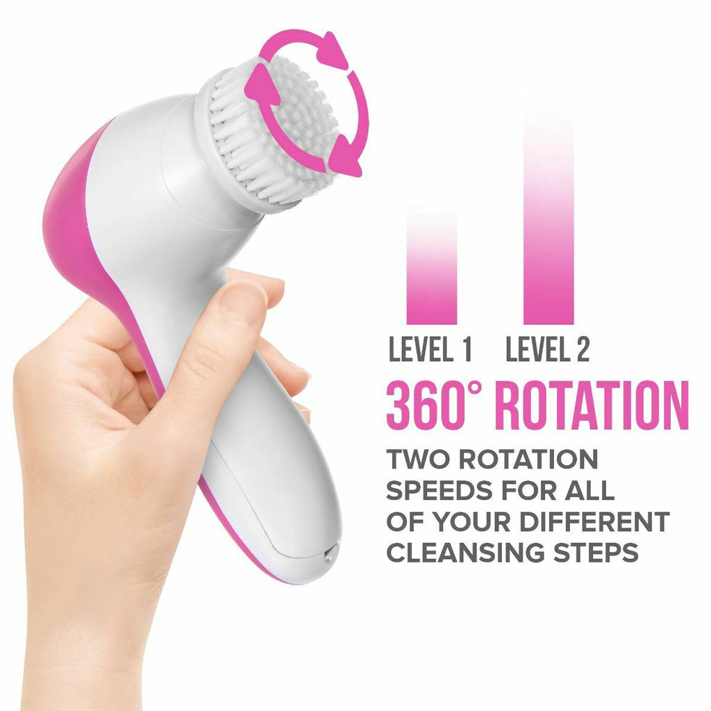 ELECTRIC FACIAL SONIC SPA CLEANSING BRUSH - BEAUTY CLEANSER EXFOLIATER - 7in1