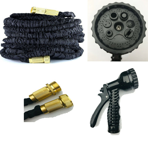 Image of 75-200FT Extra Long Retractable Expandable Magic Garden Hose Pipe & Spray Gun UK