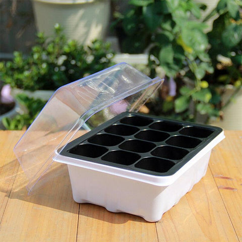 Image of 12Set Seed Tray Seedling Starter Trays Garden Plant Growing Starting Germination