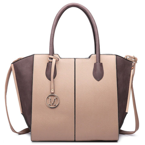 Image of Ladies Designer Tote Shoulder Leather Handbag