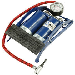 Double Barrel Foot Pump - Cylinder Air Tire Inflator