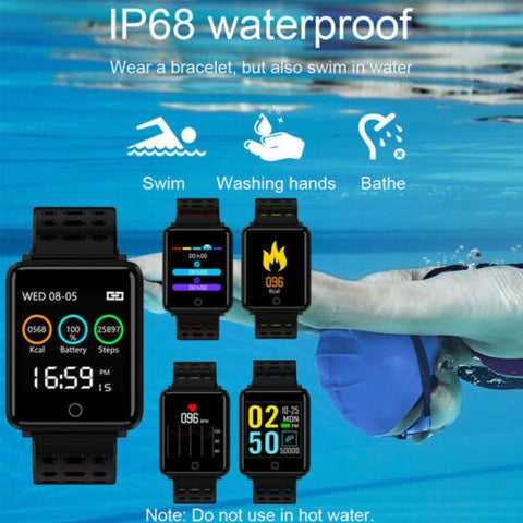 Image of Waterproof Sport Smart Watch Blood Pressure Heart Rate Monitor for iOS Android