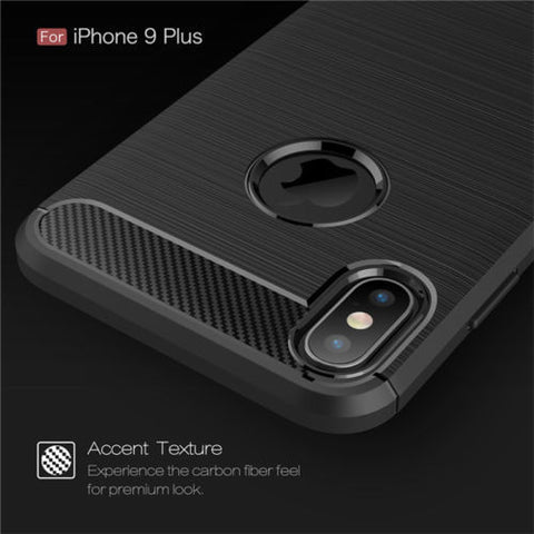 Image of Slim Carbon Fibre Shockproof Case for iPhone 6,7,8,X