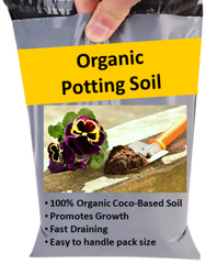 Organic Potting Soil Blocks for House Plants & Flowers - Natural Compost - 1-24L