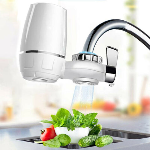 Image of Tap Water Purifier Filter - Kitchen Faucet Ceramic Filtration Water Filter Percolator