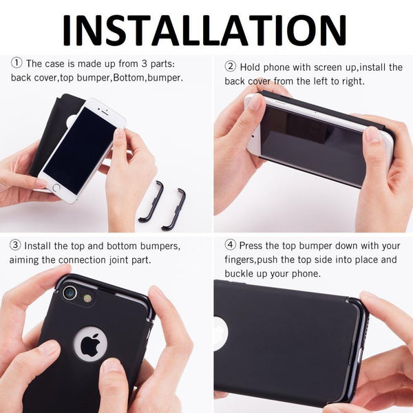 hybrid shockproof case for iphone installation
