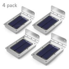Image of LED Wireless Solar Motion Sensor Security Lights - 4 Pack