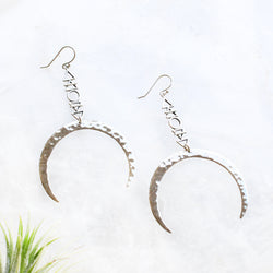Elemental Moon Sterling Earrings