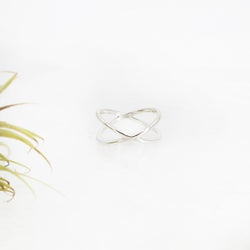 Sterling Criss Cross Ring