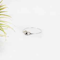 Evil Eye Sterling Ring