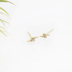 14k + Diamond Flash Studs