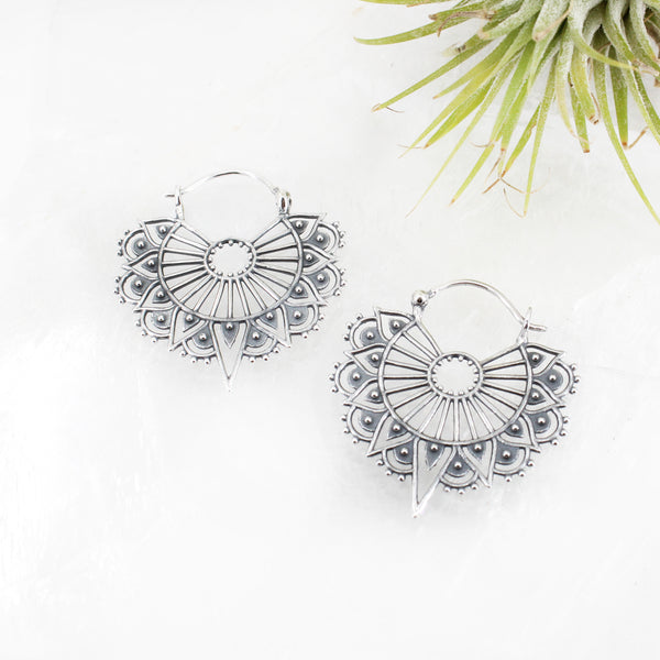 Sterling Lemurian Lace Earrings