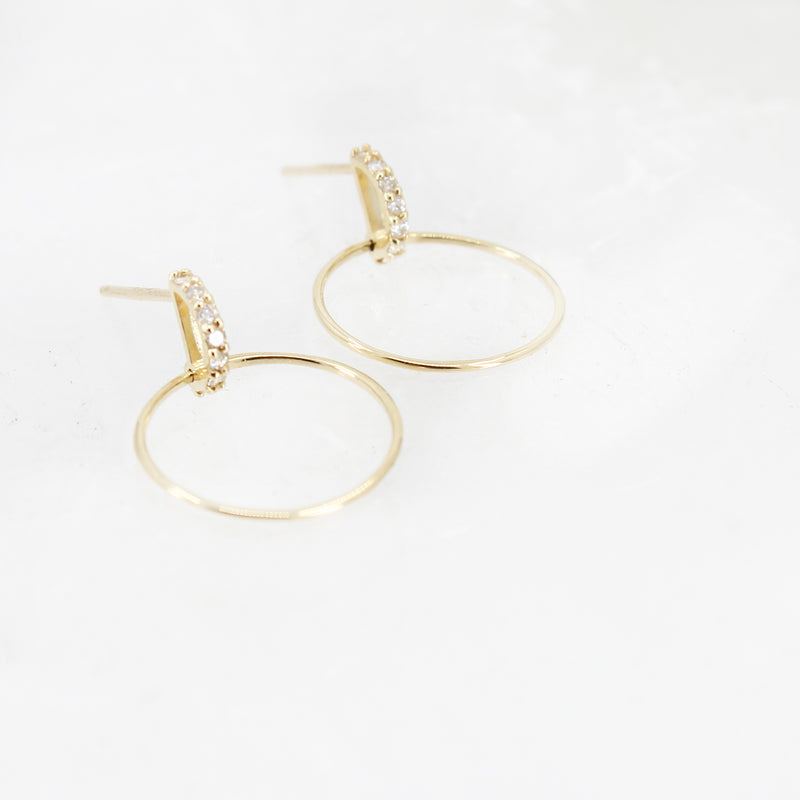 14k + Diamond Maisa Hoops