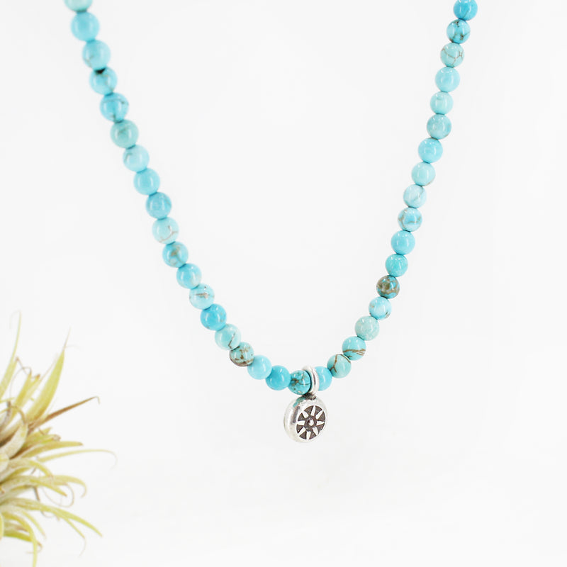 Salutation Sterling + Turquoise Necklace - OOAK